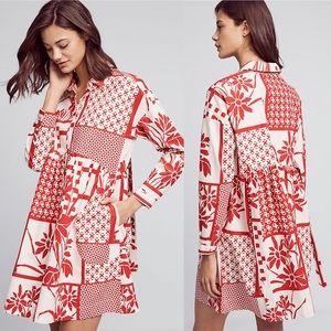 Anthropologie | Maeve Printmaker Floral Dress